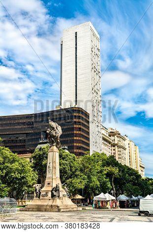Monument To Marshal Floriano Peixoto In Downtown Rio De Janeiro, Brazil