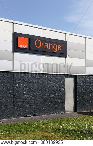 Creches, France - March 15, 2020: Orange Building And Store In France. Orange Formerly France Teleco