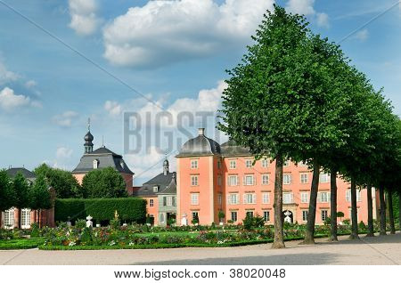 An Old Castle And The Magnificent Park