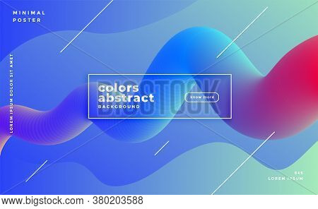 Abstract Vibrant Flowing Fluid Loop Motion Background Vector Design Illustration