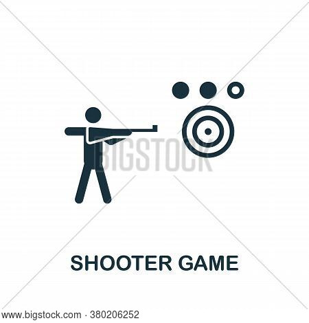 Shooter Game Icon. Simple Element From Game Development Collection. Filled Shooter Game Icon For Tem