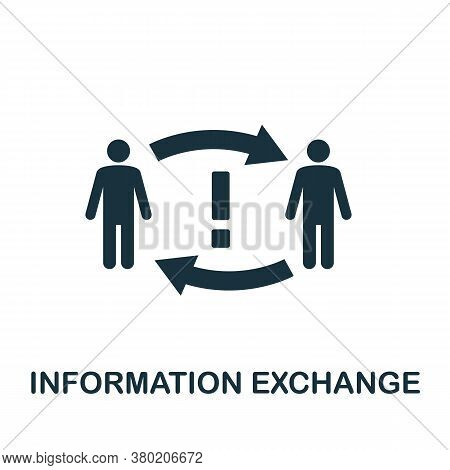 Information Exchange Icon. Simple Element From Business Technology Collection. Filled Information Ex
