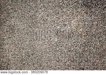Granular Roofing Surface Close-up, Stone Crumb, Pavement Texture, Granular Structure,