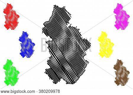 Jura Department (france, French Republic, Bourgogne-franche-comte Region, Bfc) Map Vector Illustrati