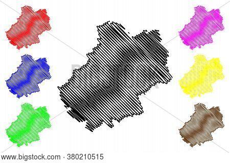 Lot Department (france, French Republic, Occitanie Or Occitania Region) Map Vector Illustration, Scr