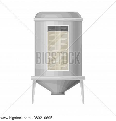 Recycling Paper With Mixing Used Paper And Water Into Pulp In Metal Tank Vector Illustration