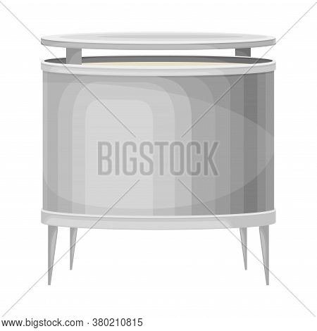 Paper Production With Wood Dust Processing In Metal Tank Vector Illustration