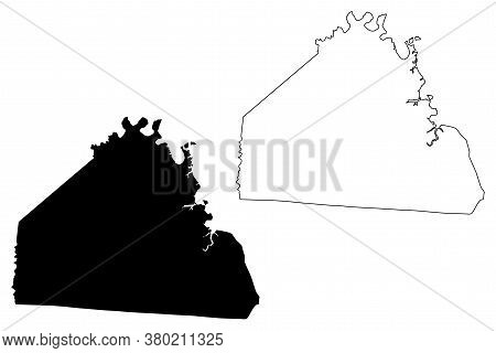 Allen County, Kentucky (u.s. County, United States Of America, Usa, U.s., Us) Map Vector Illustratio