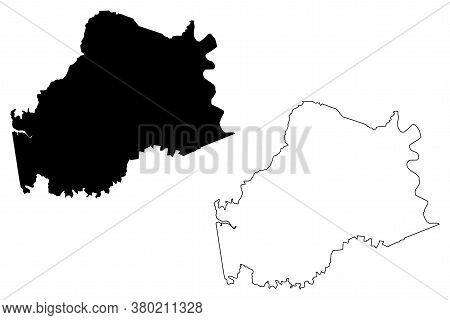 Anderson County, Kentucky (u.s. County, United States Of America, Usa, U.s., Us) Map Vector Illustra