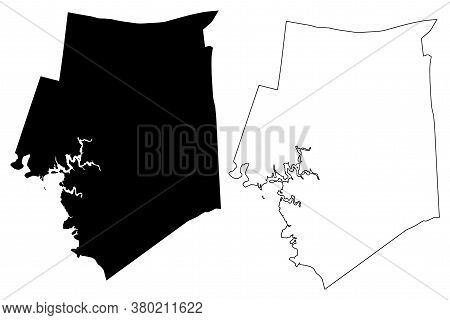 Barren County, Kentucky (u.s. County, United States Of America, Usa, U.s., Us) Map Vector Illustrati