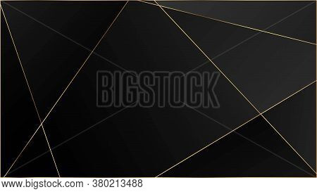 Black Luxury Triangular Texture. Elegant Dark Platinum Chic Shapes Banner Rich Vip Silver Geometric