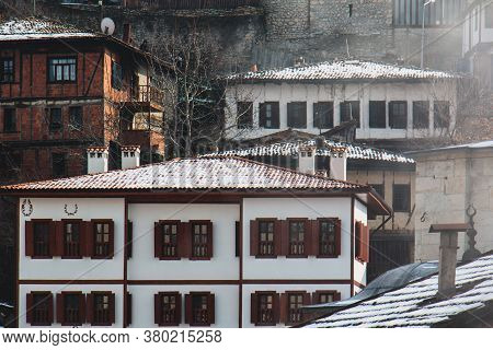 Safranbolu / Turkey Traditional Ottoman Houses In Safranbolu, Turkey. Safranbolu Is Under Protection