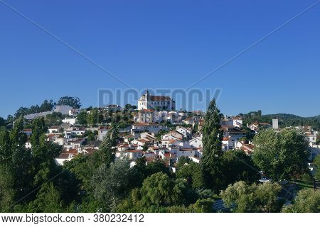 View Of Traditional Limestone Cozy Yellow And White Houses At Constancia In The Santarem District Of
