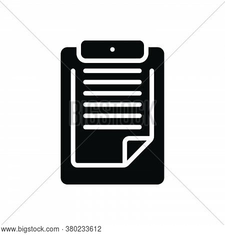 Black Solid Icon For Clipboard Pritoritize Remember Notepaper Reminder Feedback