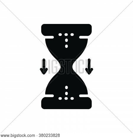 Black Solid Icon For Hourglass Timepieces Countdown Measure Running Antique Caricature Doodle