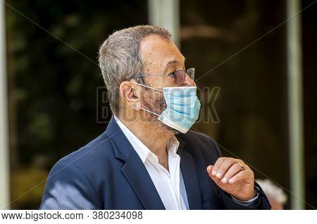 Herzliya, Israel. July 06, 2020. Former Prime Minister Of Israel And Defense Minister Ehud Barak Wea