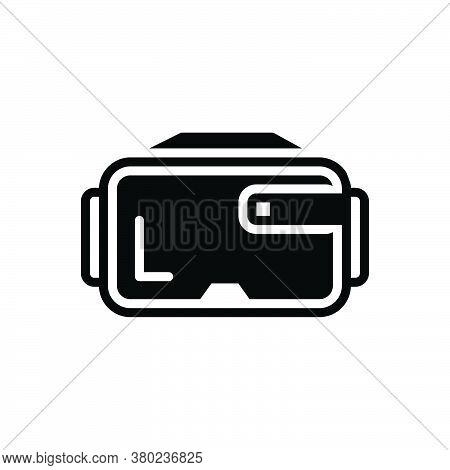 Black Solid Icon For Virtual-glasses Virtual Glasses Augmented Technology Reality Eyewear Vr Gadget
