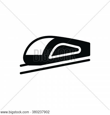 Black Solid Icon For High-speed-transportation Express Locomotive Subway Transport Journey Railroad