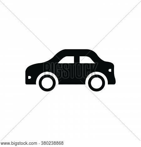 Black Solid Icon For Car Conveyance Carriage Transportation Transit Automotive Vehicle Automobile