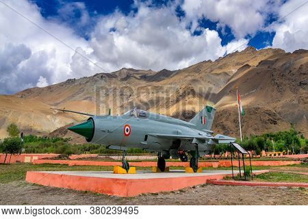 Kargil, Jammu And Kashmir,india - September 1st 2014 : A Mig-21 Fighter Plane Used By India In Kargi