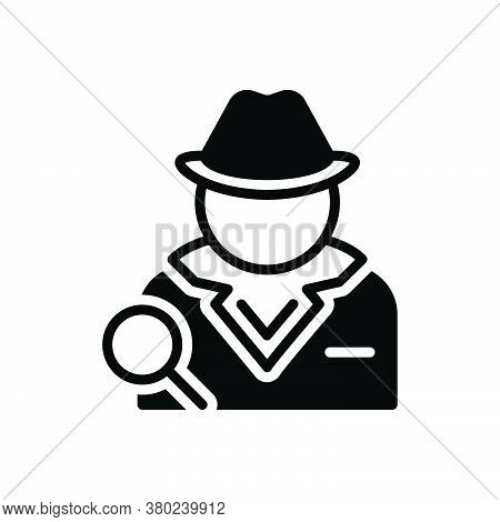 Black Solid Icon For Detective  Investigator Agent Informer Private-eye Police-officer Prosecutor Re