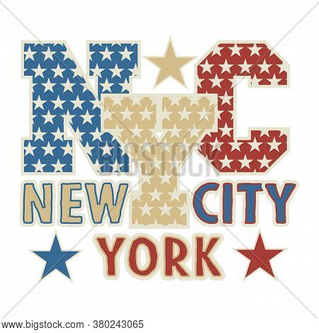 New York Typography, Design Graphic, T-shirt Printing Man Nyc