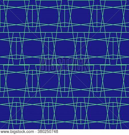 Horizontal Criss Cross Grid Abstract Geometric Pattern
