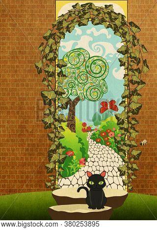Arch Doorway In The Garden