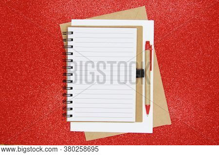 New Year Goal, Plan, Action Text On Notepad With Office Accessories. Business Motivation, Concepts O