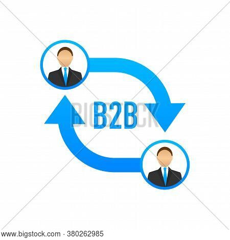B2b Sales Person Selling Products. Business-to-business Sales, B2b Sales Method. Vector Illustration