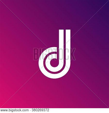 D Letter Logo Design Template. Fast Speed Vector Unusual Letter. Vector Design Template Elements For