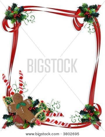 Christmas Border Ribbons And Treats