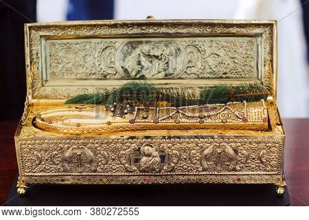 Holy Relics, Hand Of George The Victorious In Golden Shrine