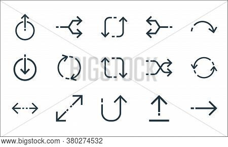 Arrows Line Icons. Linear Set. Quality Vector Line Set Such As Right Arrow, Returning, Left Right, U
