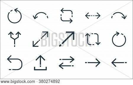Arrows Line Icons. Linear Set. Quality Vector Line Set Such As Left Arrow, Transfer, Returning, Righ