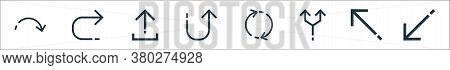 Arrows Line Icons. Linear Set. Quality Vector Line Set Such As Diagonal Arrow, Diagonal Arrow, Junct
