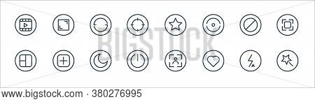 Camera Line Icons. Linear Set. Quality Vector Line Set Such As Beauty, Love, Power Off, Grid, Block,
