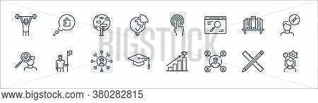 Life Skills Line Icons. Linear Set. Quality Vector Line Set Such As Woman, Man, Mortarboard, Man, Bo
