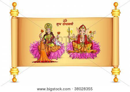 Lakshmi and Ganesh