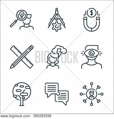 Life Skills Line Icons. Linear Set. Quality Vector Line Set Such As Skills, Dialogue, Tree, Man, Wom