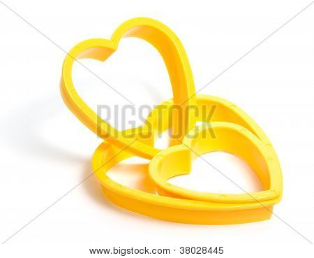 Yellow Plastic Cookies Cutter