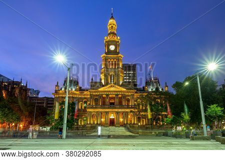 Sydney Town Hall In Sydney Central Business District