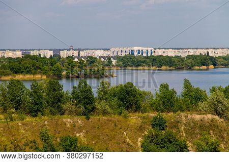 View On The River Dnieper And City Komsomolsk