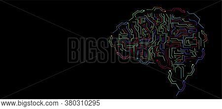 Brain Technology  Think   Illustration Creativity Modern Idea And Concept Vector