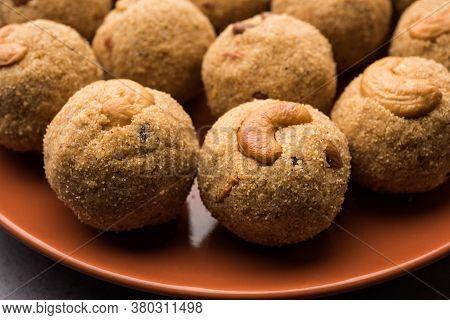 Sooji Or Rava Ladoo Is Indian Sweet Food For Festival