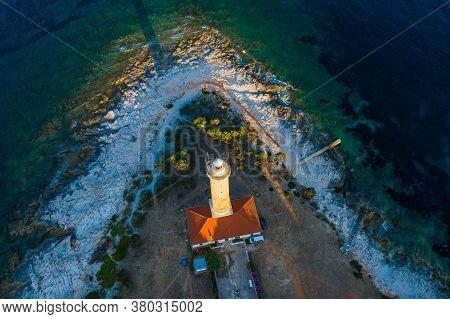 Amazing Croatia, Spectacular Adriatic Coastline, Lighthouse Of Veli Rat On The Island Of Dugi Otok I