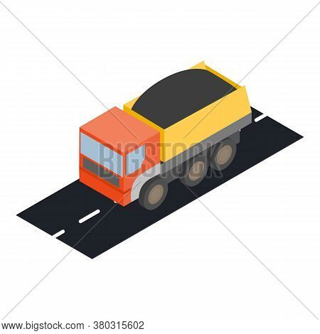 Dump Truck Icon. Isometric Illustration Of Dump Truck Vector Icon For Web
