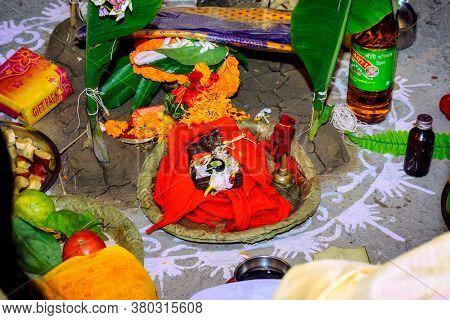 Bankura, West Bengal, India - April 16, 2019: Indian God Bal Gopal Shri Krishna
