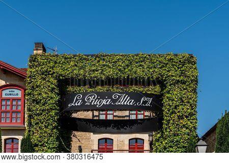 Haro, Spain - August 6, 2020: Entrance To La Rioja Alta Winery