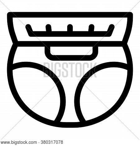 Newborn Diaper Icon. Outline Newborn Diaper Vector Icon For Web Design Isolated On White Background